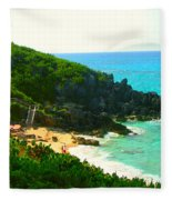 Bermuda Beach Fleece Blanket