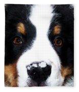 Bernese Mountain Dog - Baby It's Cold Outside Fleece Blanket