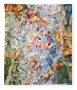 Berries Around The Tree - Abstract Art Fleece Blanket