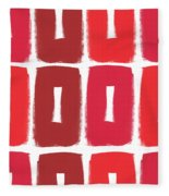 Berry Boxes- Contemporary Abstract Art Fleece Blanket