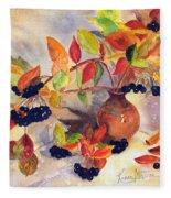 Berry Harvest Still Life Fleece Blanket