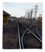 Berthoud R R Station Fleece Blanket