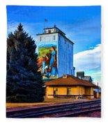 Berthoud Station Fleece Blanket