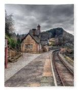Berwyn Railway Station Fleece Blanket