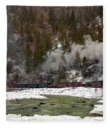 Beside The Animas River Fleece Blanket