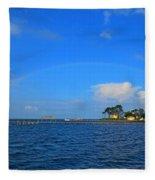 Best Complete Rainbow Over Santa Rosa Sound3 Fleece Blanket