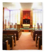 Beth El Jacob Temple In Des Moines Fleece Blanket