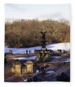 Bethesda Fountain 2013 - Central Park - Nyc Fleece Blanket