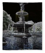 Bethesda Fountain Abstract Fleece Blanket