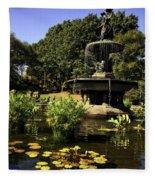 Bethesda Fountain - Central Park 2 Fleece Blanket