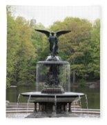 Bethesda Fountain Central Park Nyc Fleece Blanket
