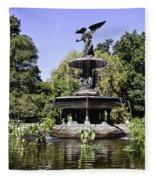 Bethesda Fountain Iv - Central Park Fleece Blanket