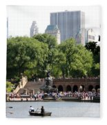 Bethesda Terrace And Fountian Nyc Fleece Blanket