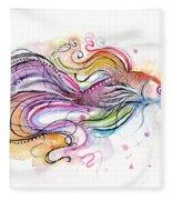 Betta Fish Watercolor Fleece Blanket