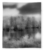 Between Black And White-24 Fleece Blanket