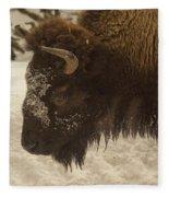 Beware Of The Bison Fleece Blanket
