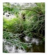 Phallic In The Grass Fleece Blanket