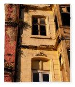 Beyoglu Old Houses 01 Fleece Blanket