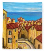 Biagi In Tuscany Fleece Blanket
