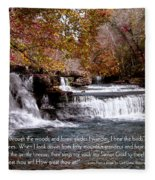 Bible Verse And Inspirational Greeting Card Autumn Fine Art Photography Prints And Posters. Fleece Blanket