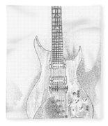 Bich Electric Guitar Sketch Fleece Blanket