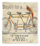 Bicycle For 2 Fleece Blanket