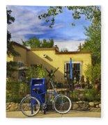 Bicycle In Santa Fe Fleece Blanket