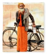 Bicycle Man Fleece Blanket