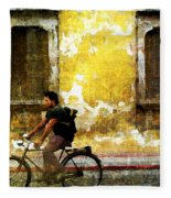 Bicycle Textures Fleece Blanket