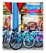 Bicycles And Chocolate Fleece Blanket