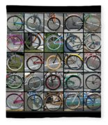Bicycles Fleece Blanket