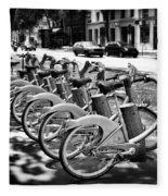 Bicycles - Velib Station - Paris Fleece Blanket