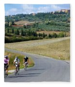 Bicycling In Tuscany Fleece Blanket