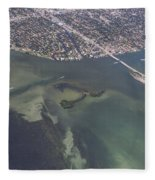 Bidr's Eye View Of Beautiful Miami Beachfront Fleece Blanket