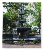 Bienville Fountain Mobile Alabama Fleece Blanket