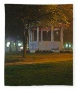 Bienville Square Grandstand In A Foggy Mist Fleece Blanket