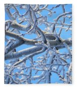 Bifurcations In White And Blue Fleece Blanket