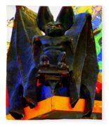 Big Bad Bat Fleece Blanket