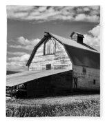 Big Barn Near Ellensburg Washington 2 Fleece Blanket