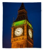 Big Ben At Night Fleece Blanket