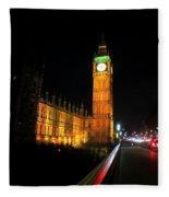Big Ben At Night  Fleece Blanket