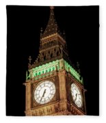 Big Ben Close Up Fleece Blanket