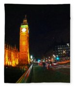 Big Ben - London Fleece Blanket