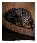 Big Black Toad Fleece Blanket