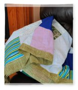 Big Blocks Patchwork Quilt Fleece Blanket