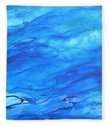 Big Blue Fleece Blanket