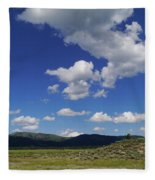 Big Blue Sky  Fleece Blanket