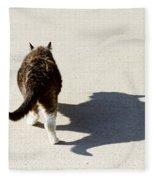 Big Cat Ferocious Shadow Fleece Blanket