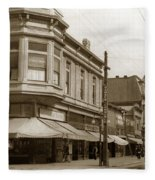 Big Curio Store Santa Cruz At 28 Pacific Avenue On The Corner Of Lincoln And Pacific. 1908 Fleece Blanket