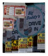 Big Daddy's Drive Inn Auburn Wa Fleece Blanket